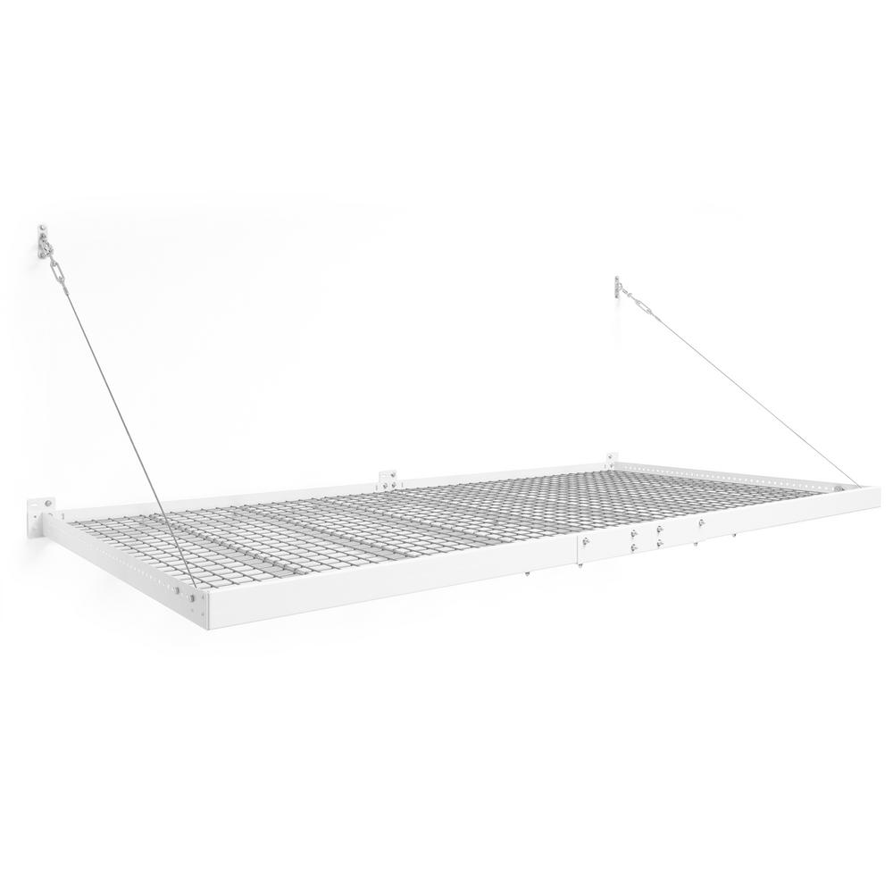 NewAge Products Pro Series 4 ft. x 8 ft. Wall Mounted Steel Shelf in White (Set of 2) was $429.99 now $284.99 (34.0% off)