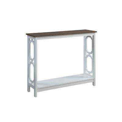 Omega Driftwood Top with White Frame Console Table