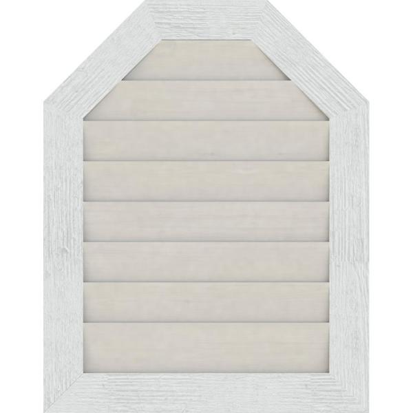 Ekena Millwork 29 X 17 Octagon Primed Rough Sawn Western Red Cedar Wood Gable Louver Vent Non Functional Gvwot24x1202rdpwr The Home Depot
