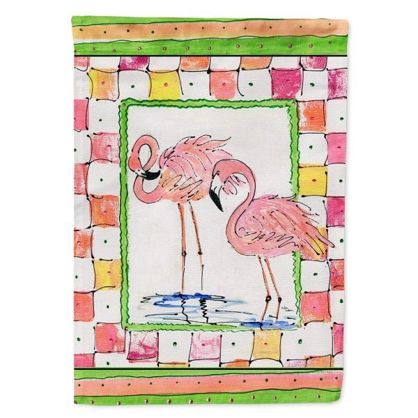 Caroline S Treasures 11 In X 15 1 2 In Polyester Flamingo 2 Sided 2 Ply Garden Flag 8077gf The Home Depot