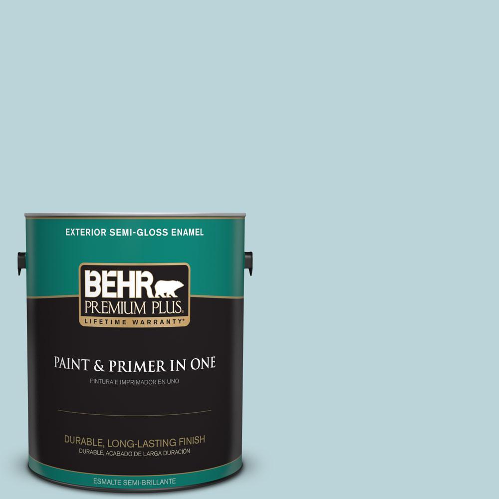 1-gal. #510E-2 Rhythmic Blue Semi-Gloss Enamel Exterior Paint