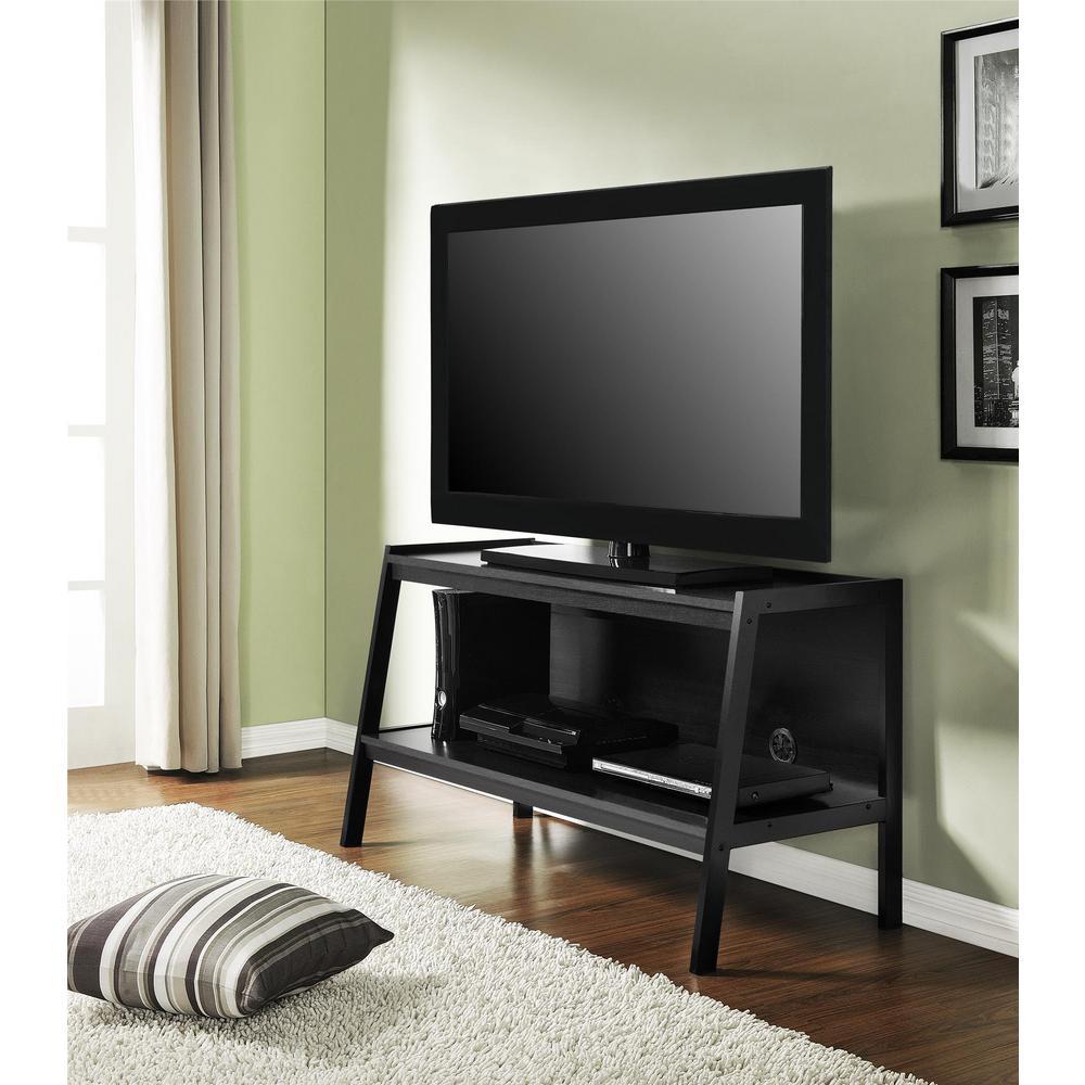 altra furniture elevation black entertainment center. Black Bedroom Furniture Sets. Home Design Ideas