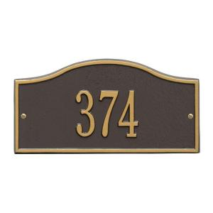 Whitehall Products Rolling Hills Rectangular Bronze/Gold Mini Wall 1-Line Address Plaque by Whitehall Products