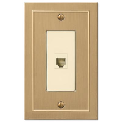 Bethany 1 Gang Phone Metal Wall Plate - Brushed Bronze