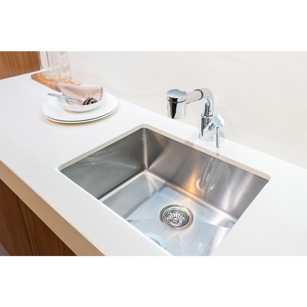 Elite Undermount Stainless Steel 23 in. 16-Guage Single Bowl KItchen Sink