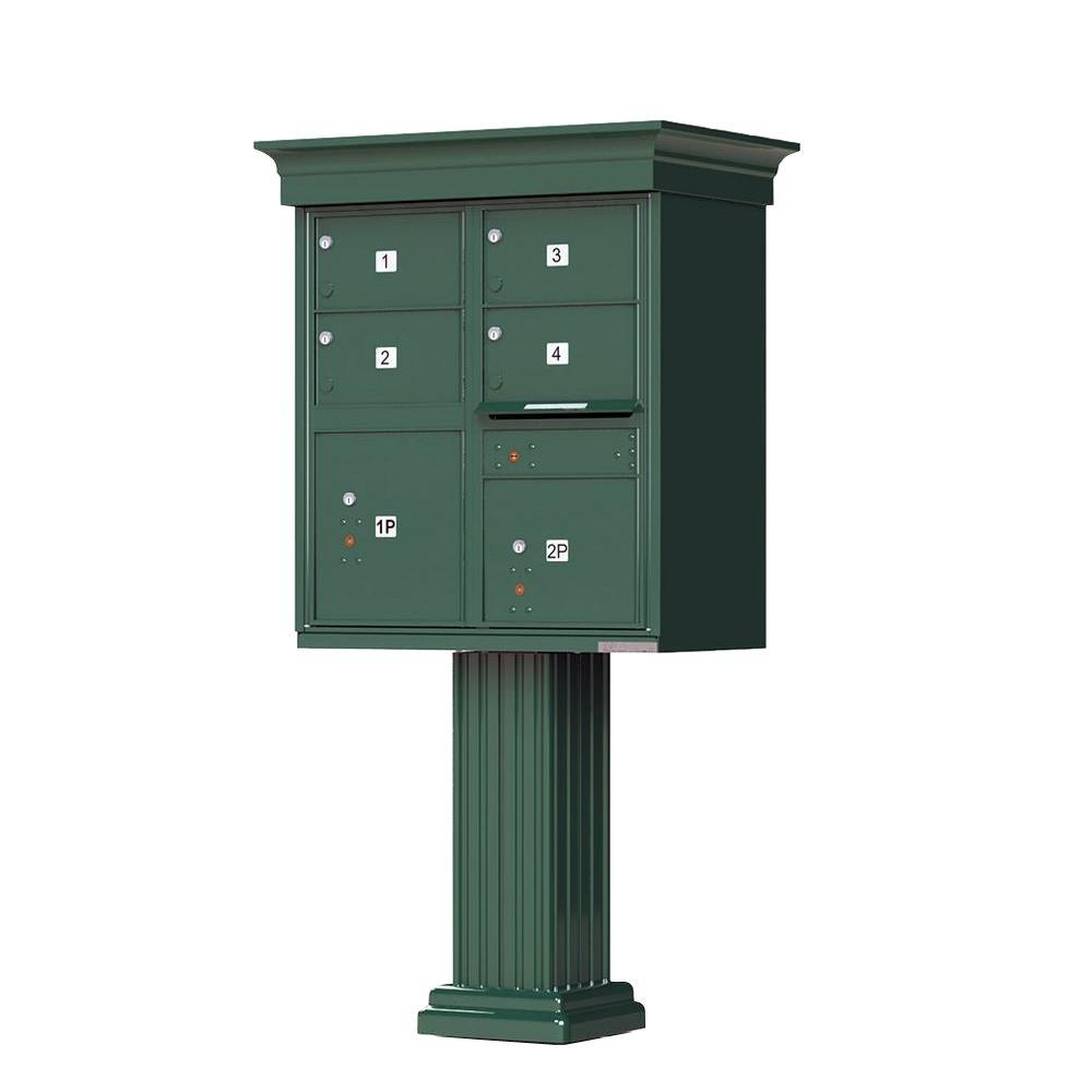 Florence 1570 Series 4 Large Mailboxes, 1 Outgoing, 2 Parcel Lockers, Vital Cluster Box Unit with Vogue Classic Accessories