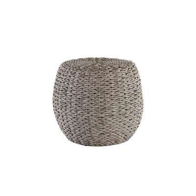 Megan Grey All-Weather Wicker Patio 24 in. Round Stool