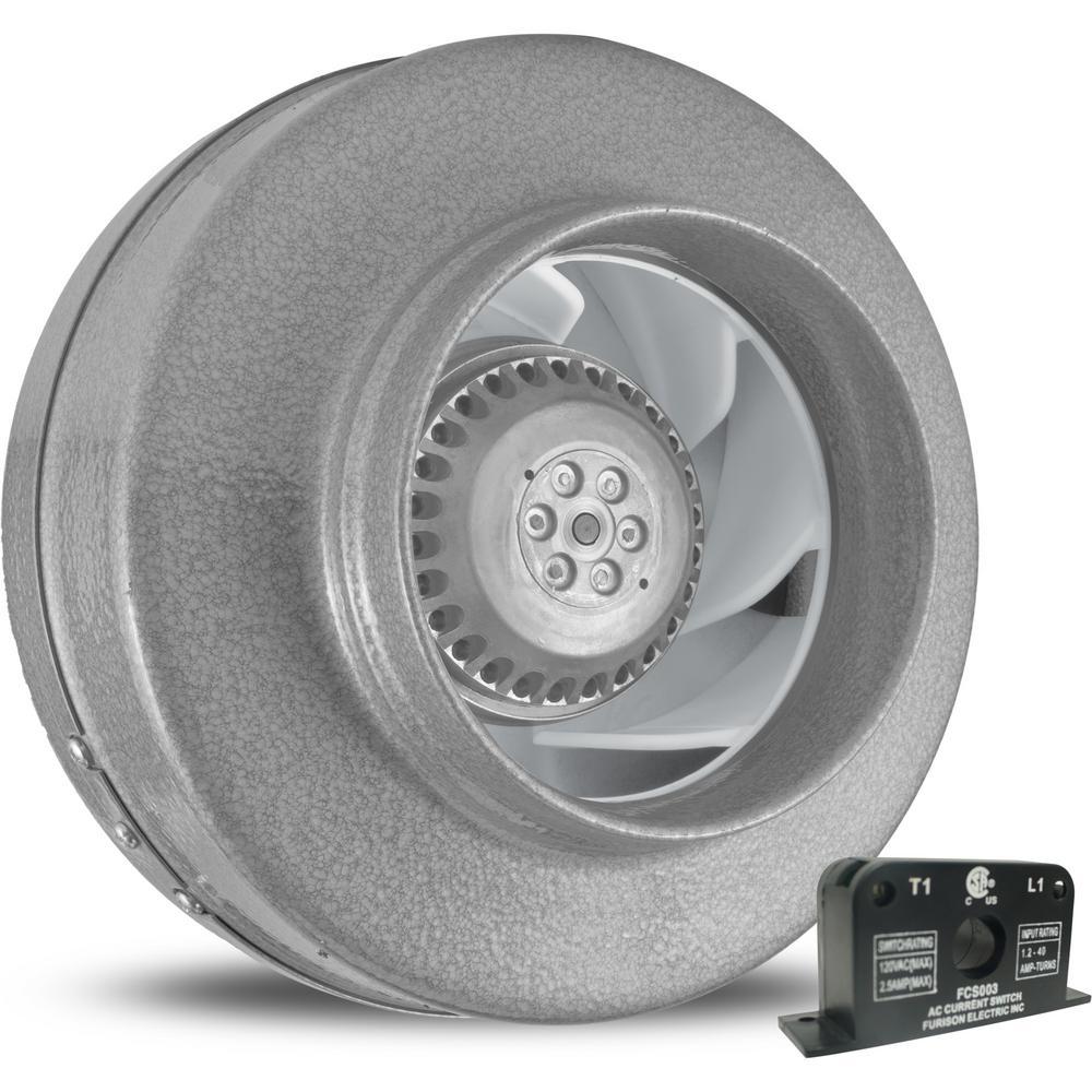 Powerfan 6 in. L 293 CFM Inline Fan with Current Sensor