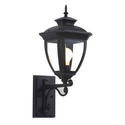 Alice 1-Light Black Outdoor Integrated LED Wall Lantern Sconce