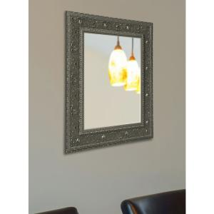 Opulent Silver Non Beveled Vanity Wall Mirror