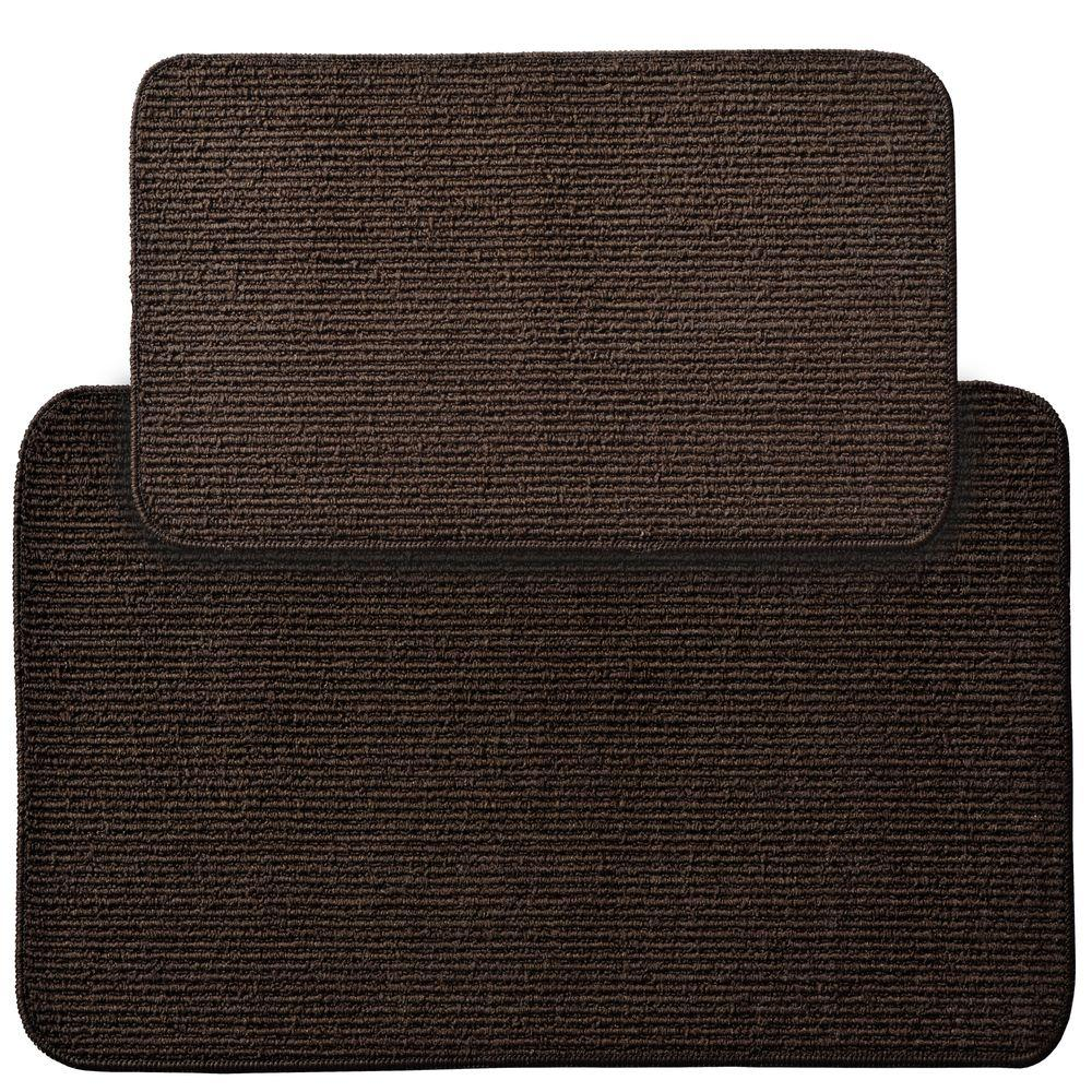 Garland Berber Rib Mocha (Brown) 2 ft. x 3 ft. 4 in. 2-Pi...
