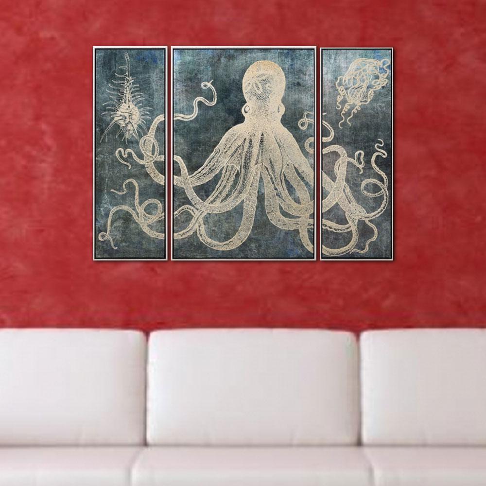 Dorado Trypch Graphic Art Work Grey Color Wall Decor with Frame