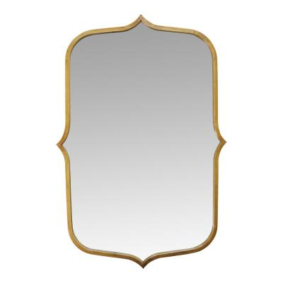 Medium Rectangle Antique Gold Casual Mirror (36 in. H x 24 in. W)