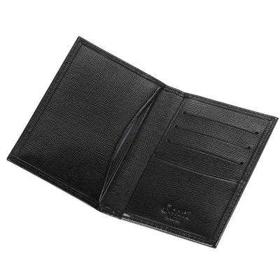 Caseti Thin Leather Business Card Holder in Black