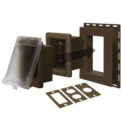 Bronze 1-Gang Weatherproof Horizontal/Vertical Non-Metallic In-Use Cover