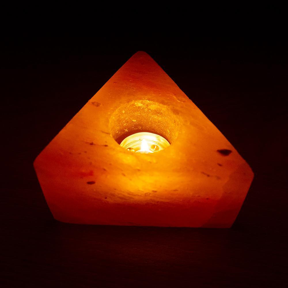 Himalayan Salt Tea Light Triangle Shape Candle Holder - Pack Of 2
