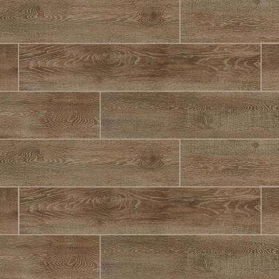 Sequoia Forest Golden Ash 8 in. x 40 in. Porcelain Floor and Wall Tile (10.75 sq. ft. / case)