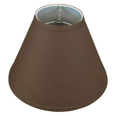 Fenchel Shades 12 in. Width x 8.25 in. Height Coffee/Nickel Finish Empire Lamp Shade