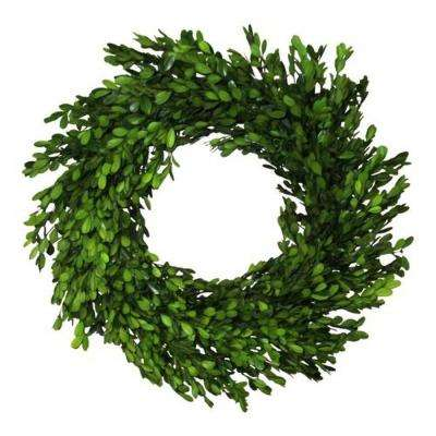 Boxwood 22 in. Green Boxwood Wreath