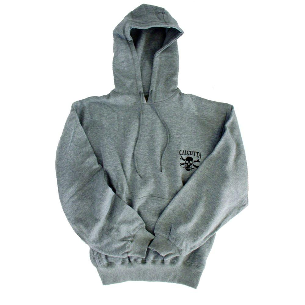 Calcutta Men's Double Extra Large Two Pocket Hooded Pull Over Sweatshirt in Grey