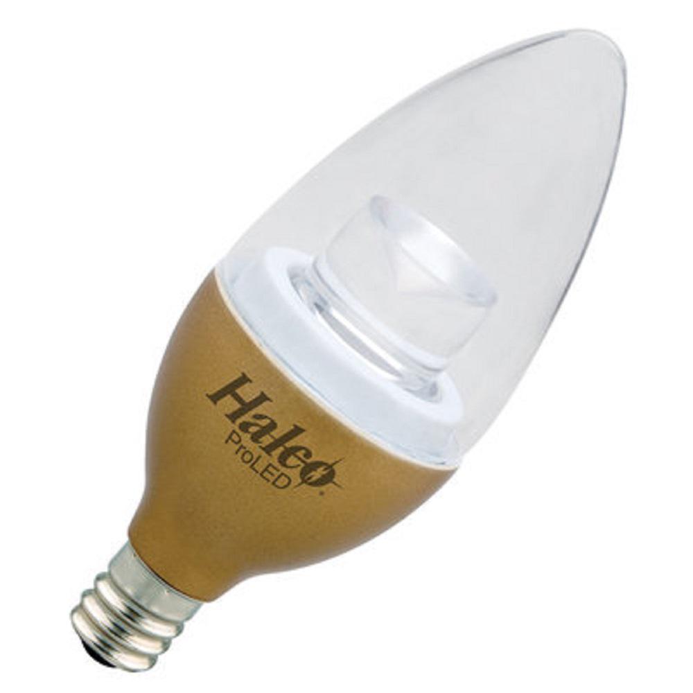 25-Watt Equivalent 3-Watt B11 Dimmable LED Brass Warm White 2700K Light Bulb 80789