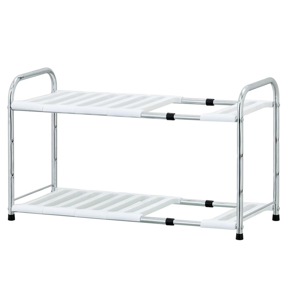 Furinno Wayar 1496 In X 275 In X 1043 In 2 Shelves Chrome