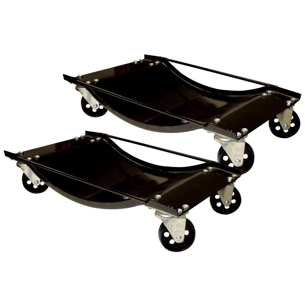 BLACK BULL 1000 lb  Capacity Steel Car Dolly Set (2-Piece)