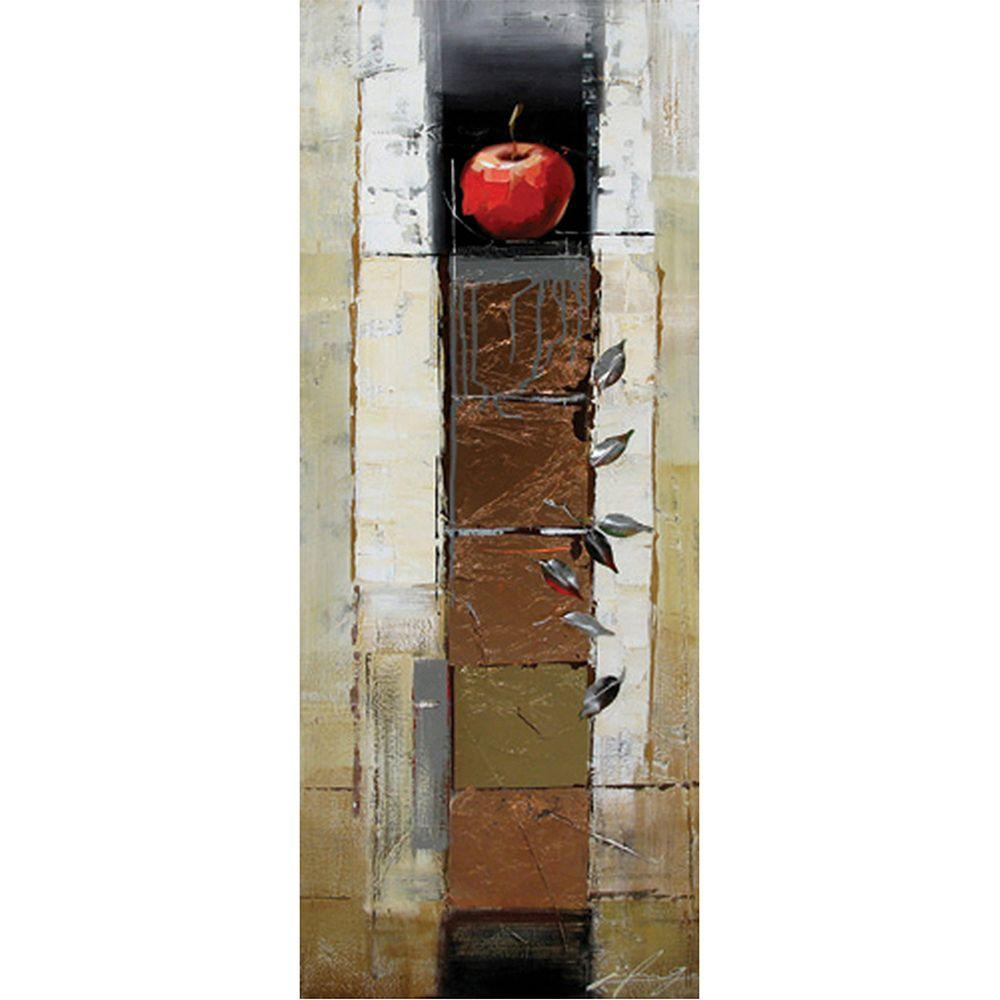 Yosemite Home Decor 18 in. x 47 in. Malus Sylvestris Hand Painted Contemporary Artwork - DISCONTINUED