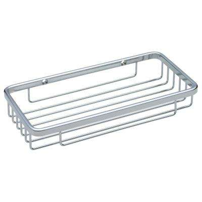 Wall-Mounted Wire Soap Dish in Bright Stainless