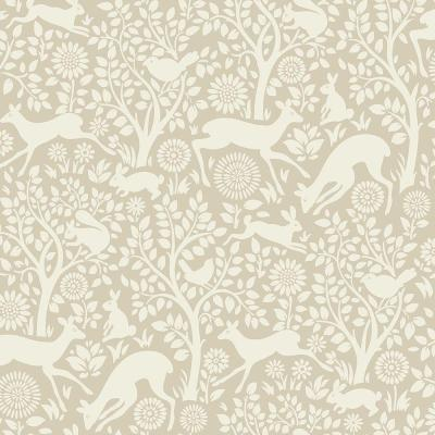 Anahi Neutral Forest Fauna Neutral Paper Strippable Roll (Covers 56.4 sq. ft.)