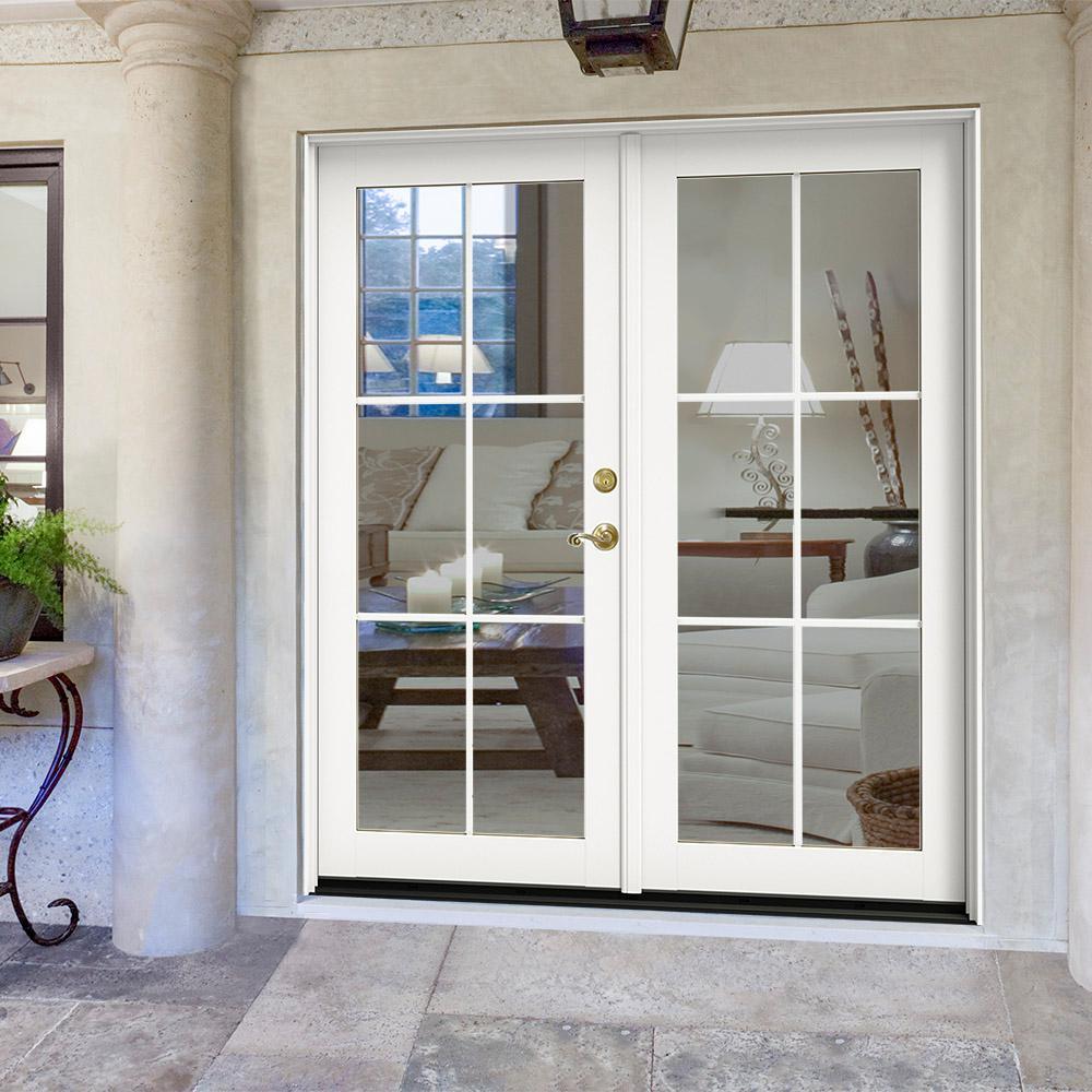 Screen Jeld Wen French Patio Door Patio Doors Exterior Doors The Home Depot