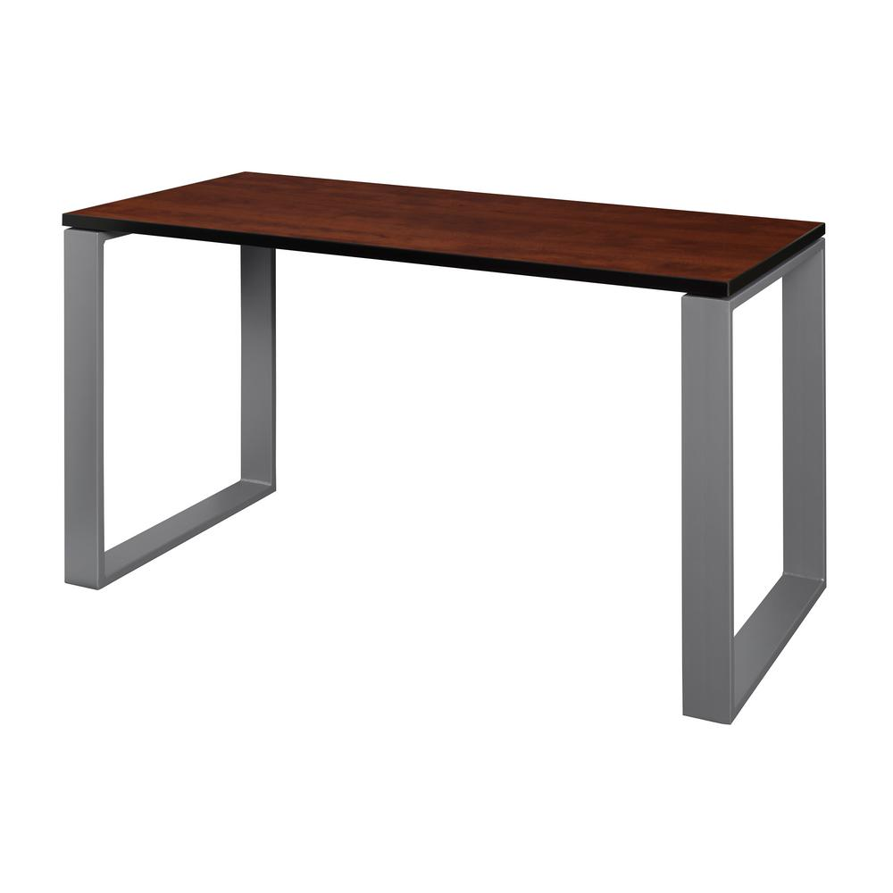 Structure 48 in. x 24 in. Cherry/Grey Training Table