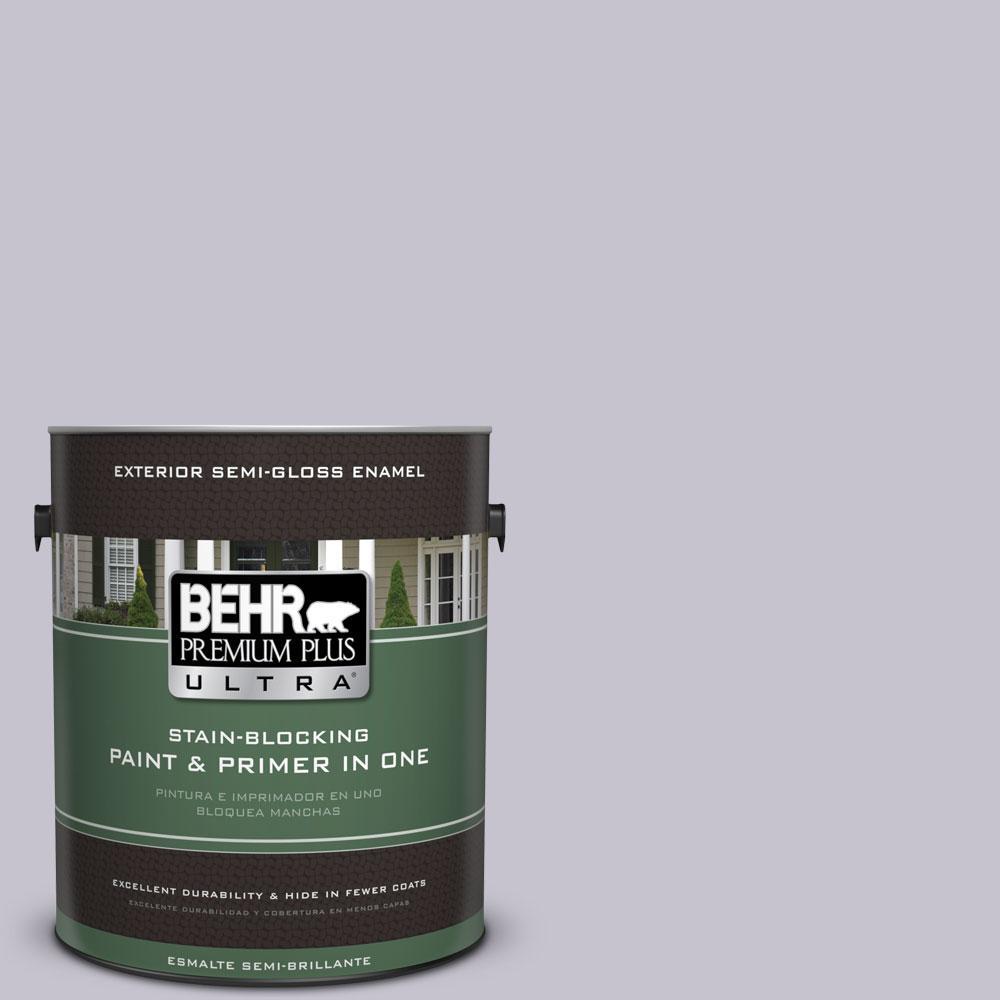 BEHR Premium Plus Ultra 1-gal. #N560-1 Posture and Pose Semi-Gloss Enamel Exterior Paint
