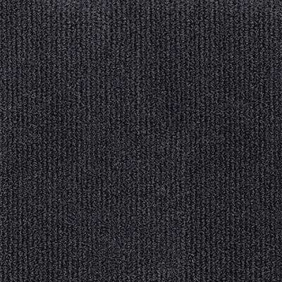 Inspirations Black Ice Ribbed Texture 18 in. x 18 in. Carpet Tile (16 Tiles/36 sq. ft. /case)