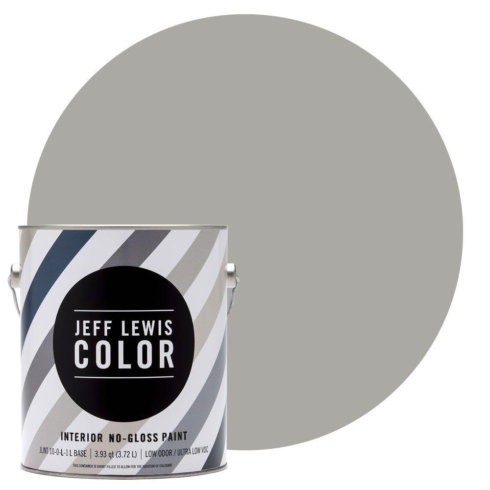 Jeff Lewis Color 1 Gal. #JLC410 Smoke No Gloss Ultra Low VOC Interior Paint 101410    The Home Depot