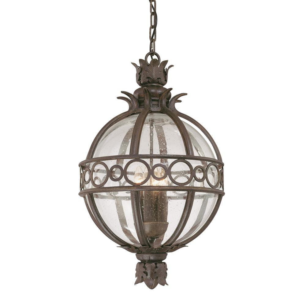 Campanile 3-Light Campanile Bronze Outdoor Pendant