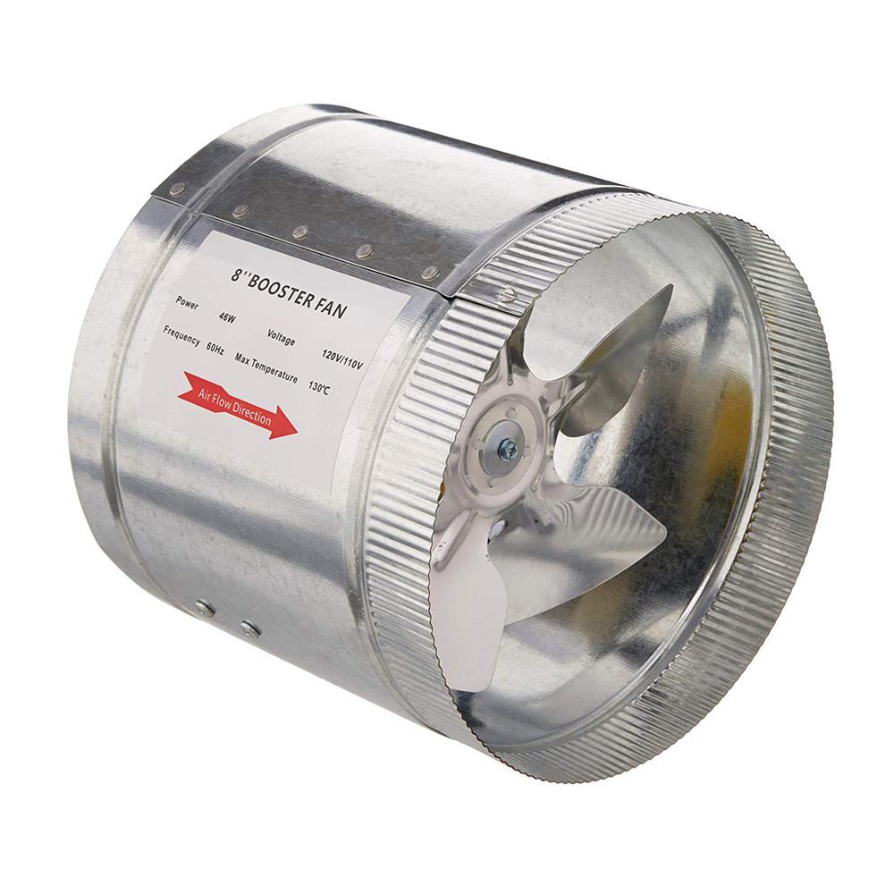 420 CFM 8 in. Inline Duct Booster Fan for Indoor Garden Ventilation