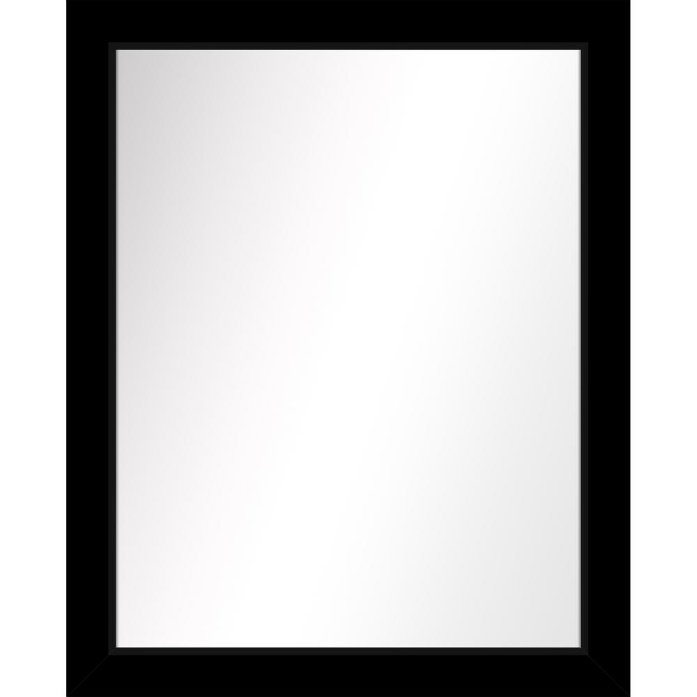 Medium Rectangle Black Art Deco Mirror (31.5 in. H x 25.5 in. W)