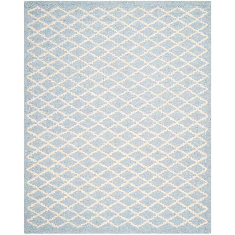 Cambridge Light Blue/Ivory 8 ft. x 10 ft. Area Rug