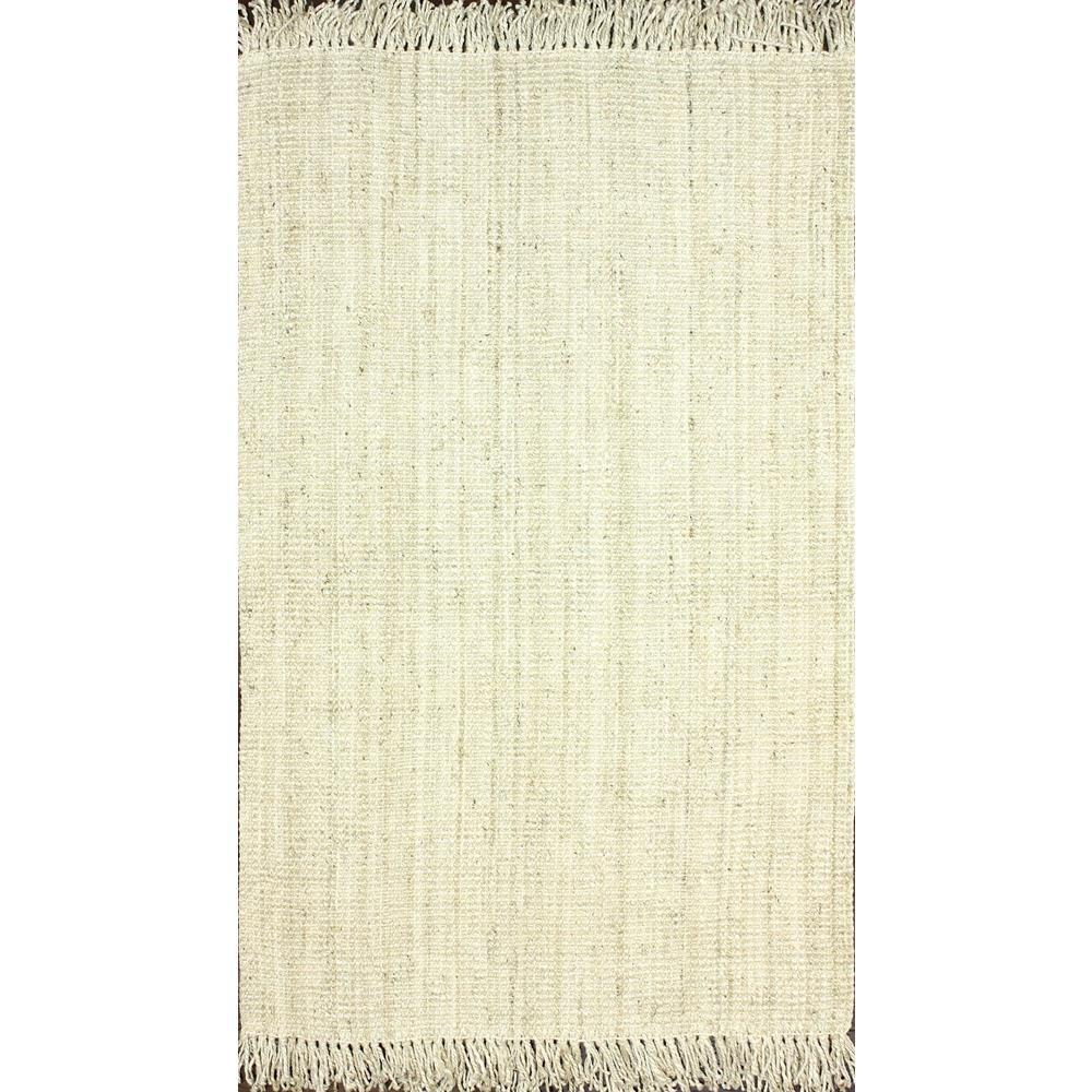 nuLOOM Natura Collection Chunky Loop Jute Off White 8 ft. x 10 ft. Area Rug