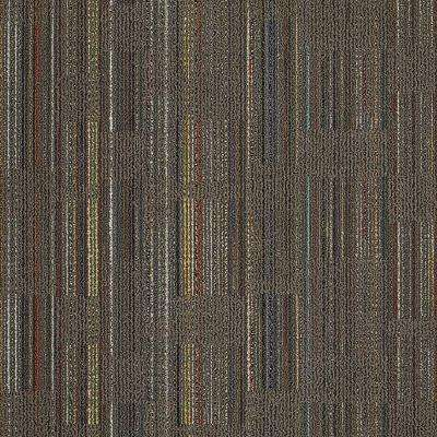 Designer Brown 24 in. x 24 in. Modular Carpet Tile Kit (18 Tiles/Case)