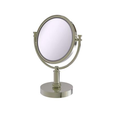 8 in. x 15 in. x 5 in. Vanity Top Single Makeup Mirror 5X Magnification in Polished Nickel
