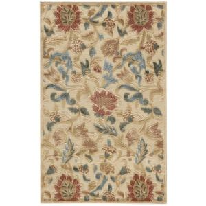 Nourison Graphic Illusions Light Gold 2 ft. 3 inch x 3 ft. 9 inch Accent Rug by Nourison