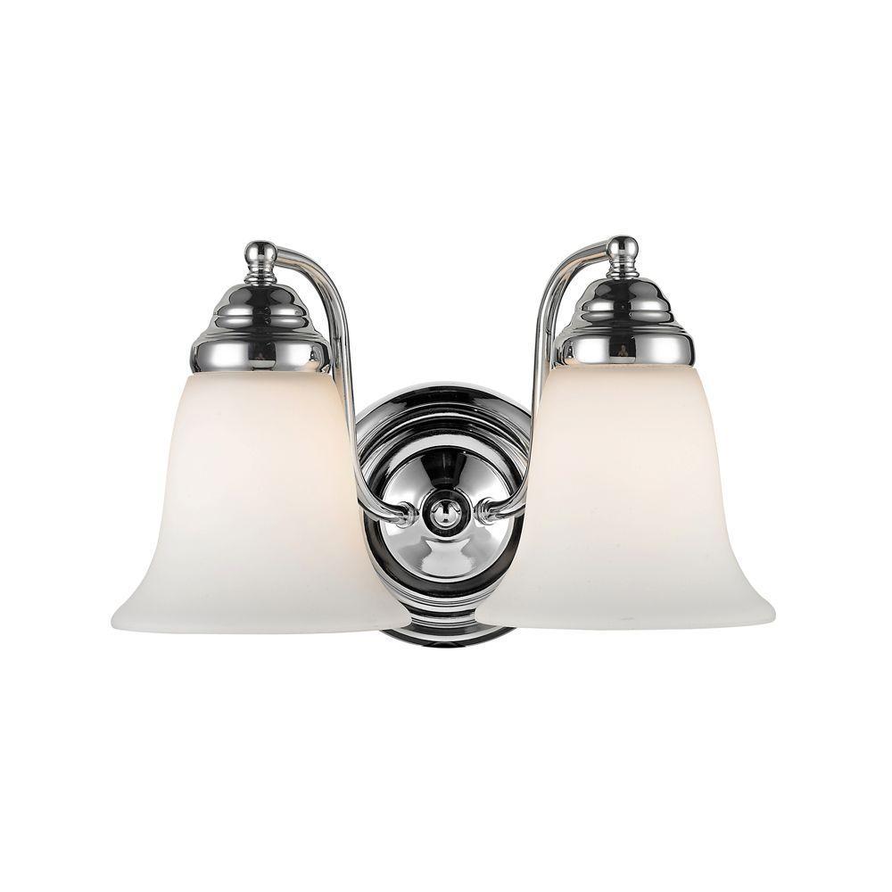 Yvette 2-Light Chrome Incandescent Bath Vanity Light