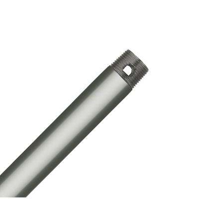 36 in. Satin Nickel Extension Downrod for 12 ft. ceilings
