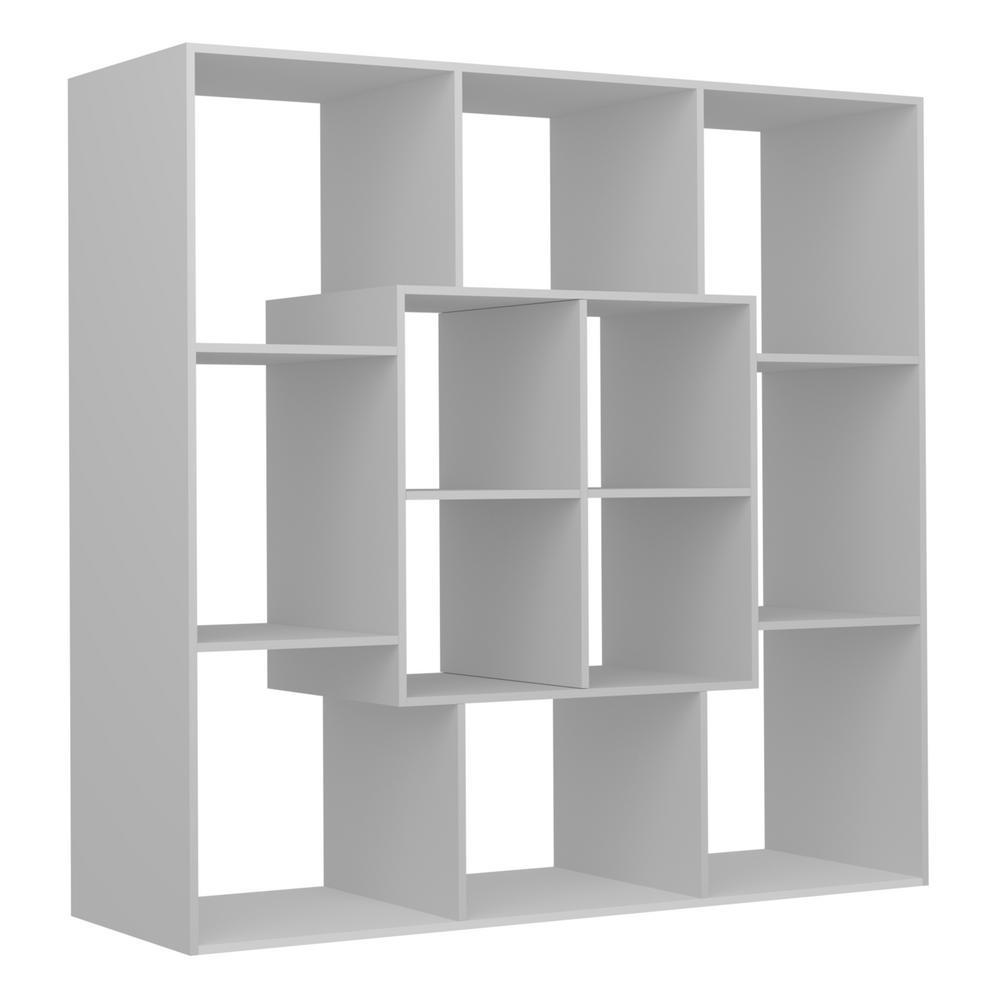Home Decor Boston: Ada Home Decor Boston White And Red Modern Bookcase
