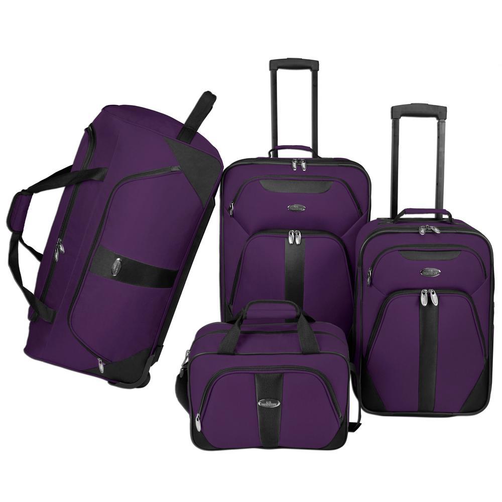 4-Piece Luggage Set, Purple