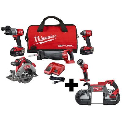 M18 FUEL 18-Volt Lithium-Ion Brushless Cordless Combo Kit (5-Tool) with M18 FUEL Deep Cut Band Saw