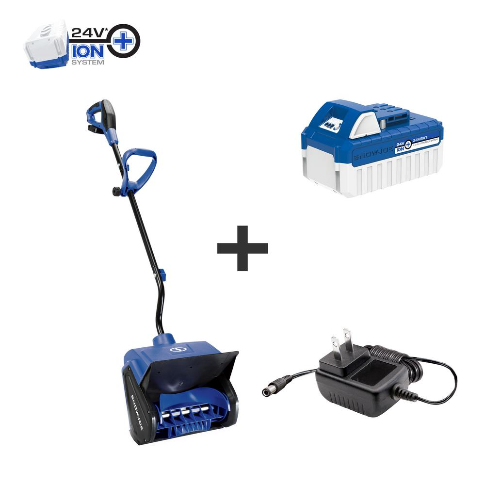 Snow Joe 13 in. 24-Volt Cordless Snow Shovel Kit with 4.0 Ah Battery Plus Charger