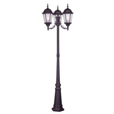 Providence 3-Light Bronze Outdoor Incandescent Post Light